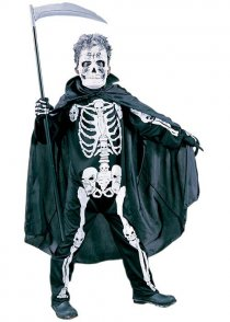 Childs Size Halloween Scary Skeleton Costume