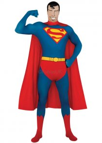 Adult Size Superman 2nd Skin Jumpsuit Costume