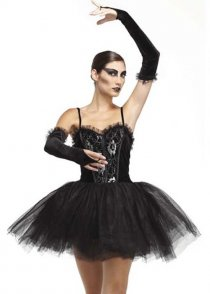 Adult Black Swan Style Gothic Ballerina Costume