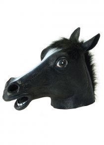 Deluxe Black Beauty Horse Mask