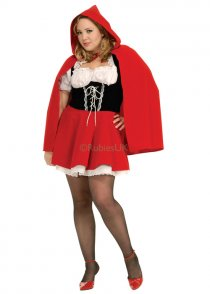Womens Plus Size Red Riding Hood Costume