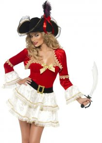 Adult Sexy Fever Boutique Plentiful Pirate Costume
