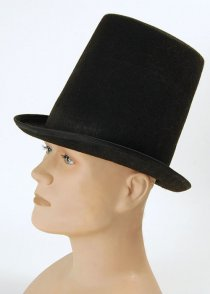 Christmas Black Stovepipe Top Hat