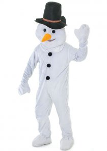Adult Deluxe Mascot Snowman Costume