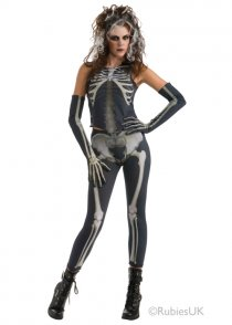 Womens Skeleton Skelee Girl Costume