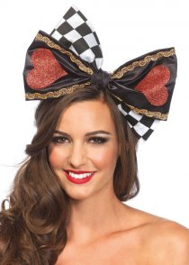 Large Queen of Hearts Wonderland Hair Bow