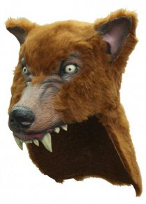 Deluxe Brown Wolf Mask Headpiece