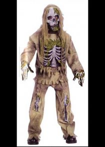 Childrens Skeleton Zombie Costume