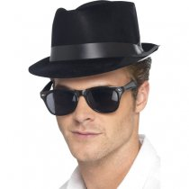Flocked Fedora Hat