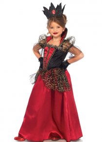 Childrens Gothic Deluxe Red Queen Costume