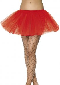 Adult Size Ladies Red Net Tutu Skirt