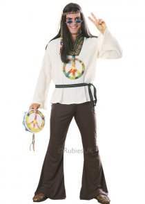 Mens 70s Hippy Groovin Man Costume