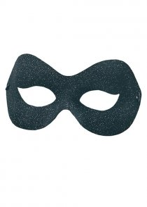 Black and Silver Glitter Masquerade Eyemask