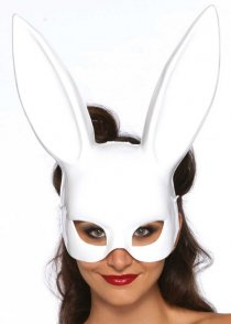 Womens White Bunny Rabbit Mask with Ears