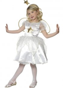 Childs White Christmas Fairy Costume