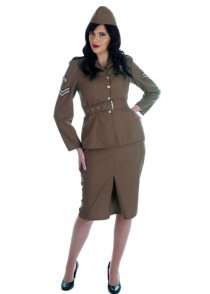 Ladies 1940's WW2 Army Girl Costume
