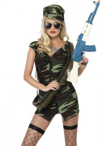 Adult Ladies Fever Army Combat Girl Costume
