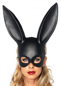 Womens Black Bunny Rabbit Mask with Ears