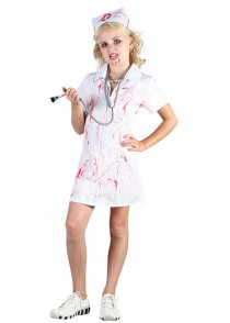 Childrens Zombie Nurse Costume