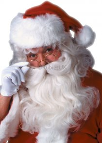 Deluxe Santa Claus White Wig and Beard Set