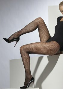 Adult Size Ladies Black Fishnet Tights