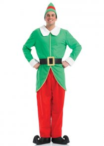Adult Mens Christmas Elf Costume