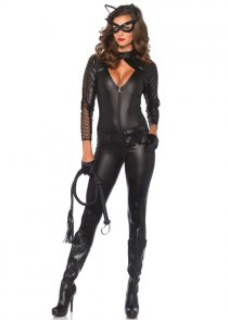 Womens Deluxe Catwoman Wicked Kitty Costume