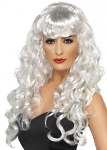 Adult Long Curly White Angel Wig