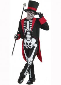 Childs Size Mr Bone Jangles Skeleton Costume