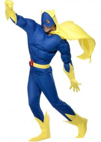 Adult Size Mens 80's Bananaman Costume