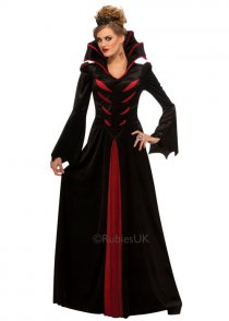 Womens Gothic Vampire Queen Costume