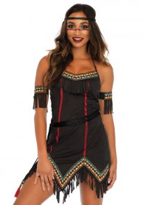 Womens Tiger Lily Native Indian Costume