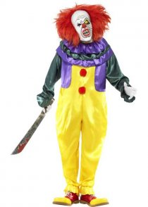 Adult Scary It Clown Costume