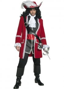Adult Hook Style Authentic Pirate Captain Costume
