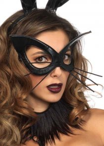 Womens Gothic Black Bunny Rabbit Eyemask