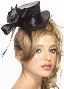 Deluxe Gothic Black Satin Mini Top Hat