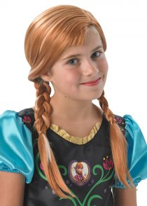 Childrens Size Disney Frozen Anna Wig