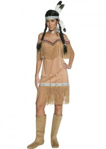 Adult Western Squaw Indian Lady Costume