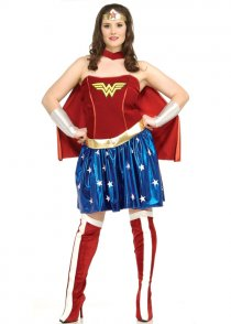 Womens Plus Size Wonder Woman Costume