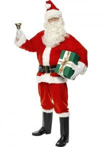Adult Size Deluxe Red Santa Costume