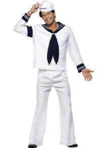 Adult The Village People Navy Sailor Costume