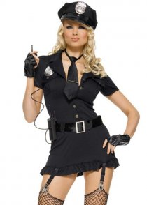 Womens Dirty Cop Police Costume