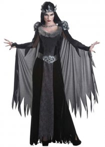 Womens Gothic Death Queen Costume