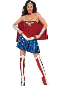 Ladies Sexy 80's Superhero Wonder Woman Costume