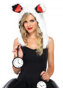 Alice In Wonderland White Rabbit Hood Headpiece