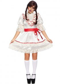 Womens Annabelle Style Haunted Doll Costume