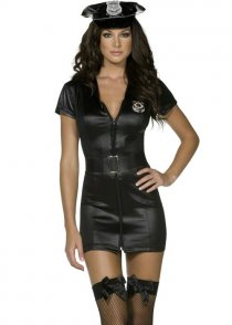Ladies Police Fever Black Sexy Cop Costume