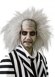 Adult Mens Grey Beetlejuice Wig