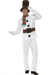 Adult Mens Christmas Mr Snowman Costume