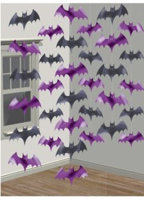 Bat String Halloween Party Decorations Pk6